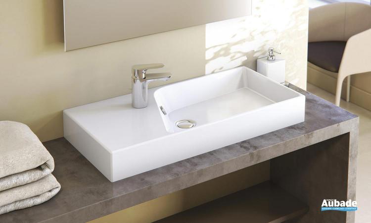 Plan-vasque céramique Rythmik de Jacob Delafon