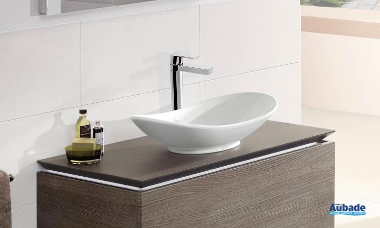 vasque à poser sans trop plein en céramique Villeroy & Boch My Nature
