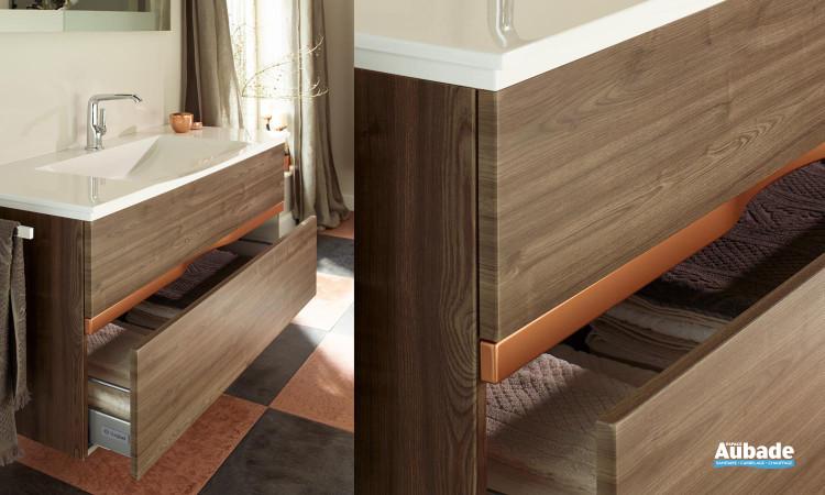 Meubles de salle de bains Orell tiroir ouvert