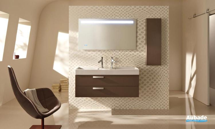 meubles de salle de bain Rythmic laqué brillant Taupe