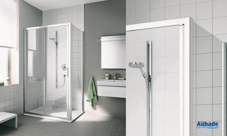 paroi de douche avec porte coulissante rothalux CC G2R/L