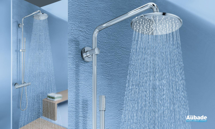 Colonne de douche design Grohtherm rainshower system de grohe avec douchette à main