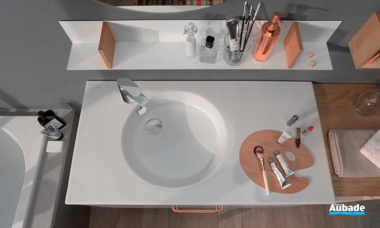 plan vasque céramique Jacob Delafon Odéon Up