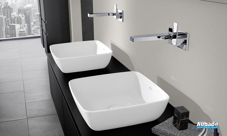 Vasque à poser carrée en TitanCeram de Villeroy & Boch 1