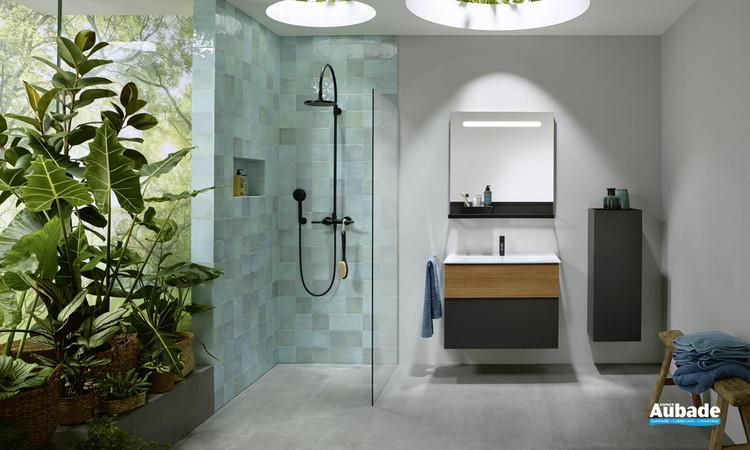 Meuble de salle de bains Fiumo  tectona decor cannelle de Burgbad