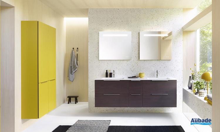 Meuble de salle de bains Free 180 Chêne décor Mokka de Burgbad