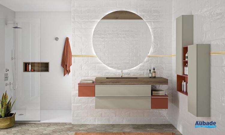 Meuble de salle de bains Extenso Natura 160 cm Grège de Cedam