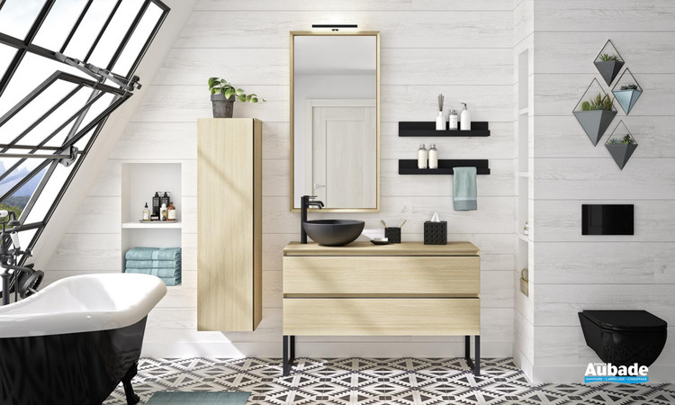 Meuble de salle de bains Oakwood Chene Clair de Cedam