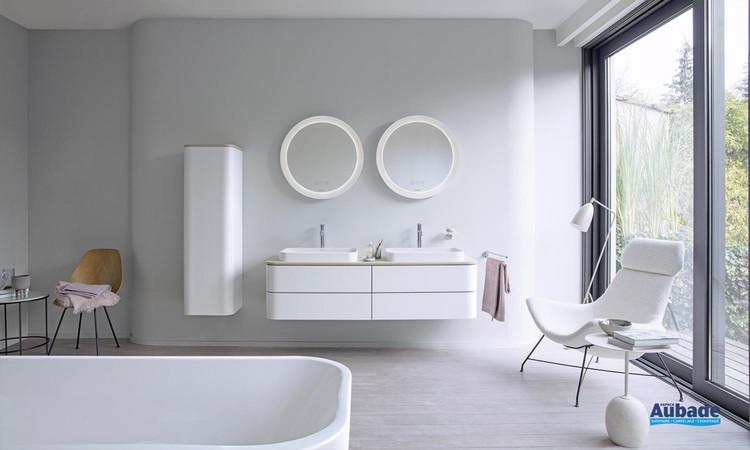 Meuble de salle de bains Happy D.2 Plus Finition laque satinée de Duravit