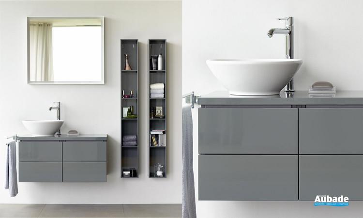 Meuble de salle de bains L-Cube finition laque Gris Dolmite Brillant de Duravit