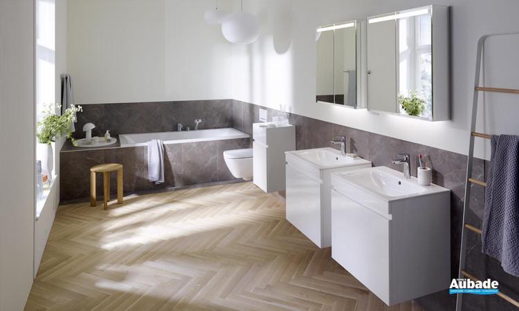 Meuble de salle de bains Renova Plan finition blanc brillant de Geberit