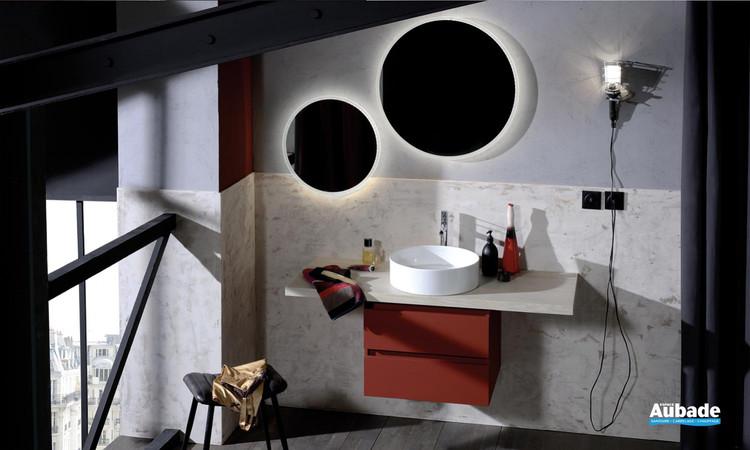 Meuble de salle de bains Parallel finition magma soft de Jacob Delafon
