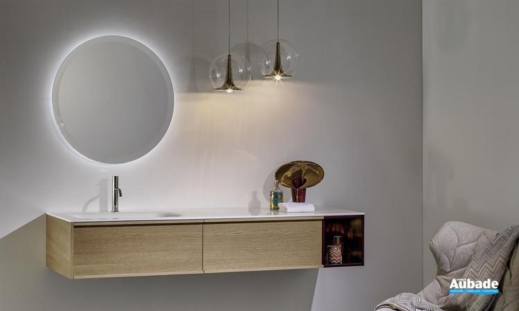 Meuble de salle de bains Loop 46 laque mat melanzana de Stocco