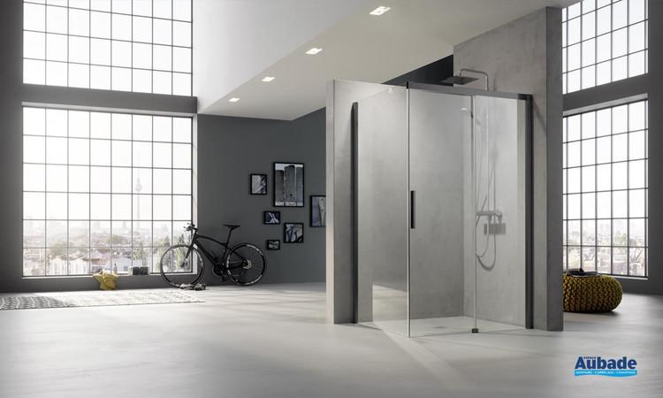 Paroi de douche avec porte coulissante Nica NI D2R/L + NI TWR/L de Rothalux 1