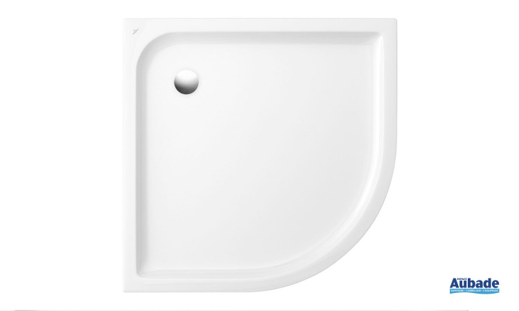 Receveur céramique quart de rond antidérapant Villeroy & Boch O.novo Plus