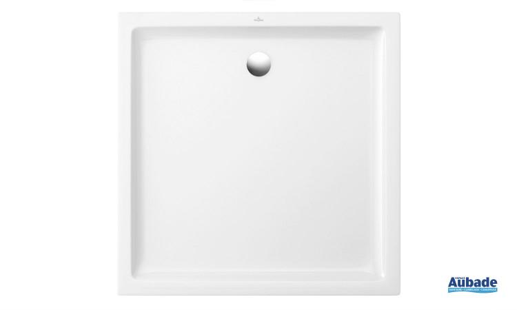 Receveur céramique carré antidérapant Villeroy & Boch O.novo Plus