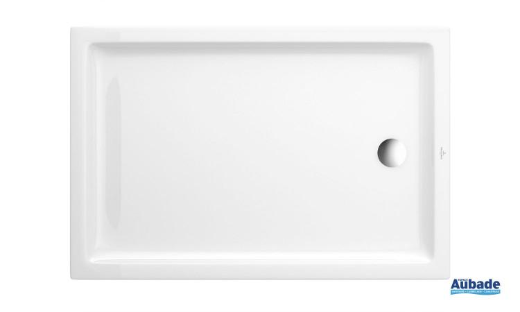 Receveur céramique extra-plat rectangulaire Villeroy & Boch O.novo Plus