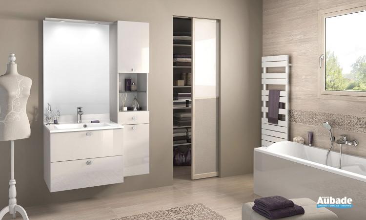 Meuble de salle de bains Evolution 70 Divine argile brillant de Delpha