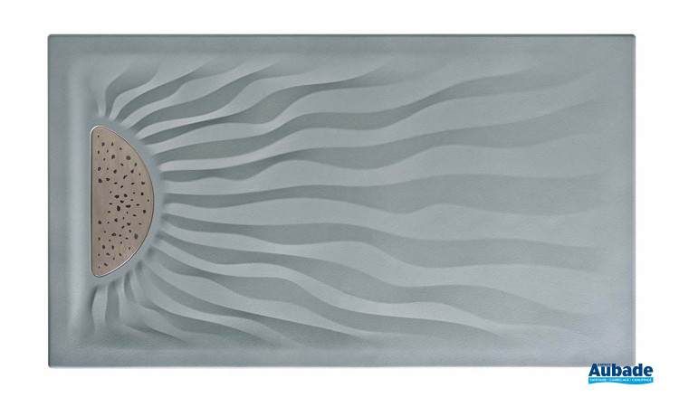 Receveur gris mat extra plat d'Allia Embruns