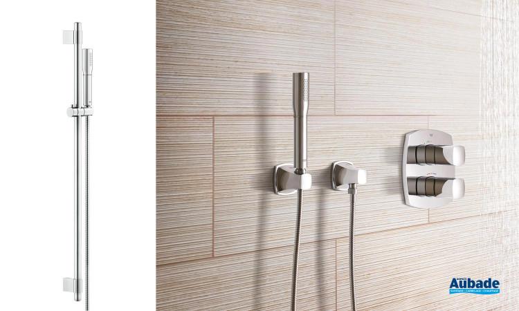 Barre de douche complète métal Grandera de Grohe