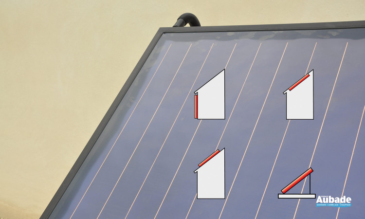 Implantations des capteurs: sur la façade, intégré, posé ou incliné