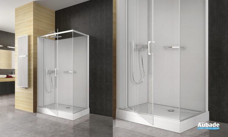 cabines de douche intégrales new city leda  espace aubade