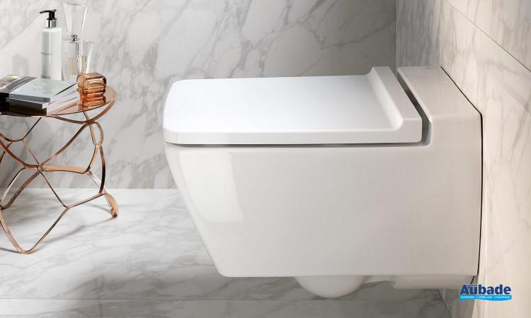 Pack WC suspendu Xeno² Rimfree sans bride blanc par Keramag Design