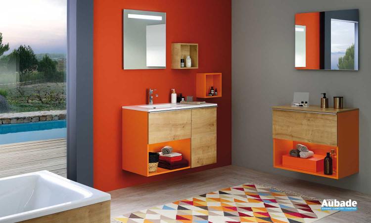 Meuble de salle de bains Liberty Fantasy coloris décor orange de Sanijura