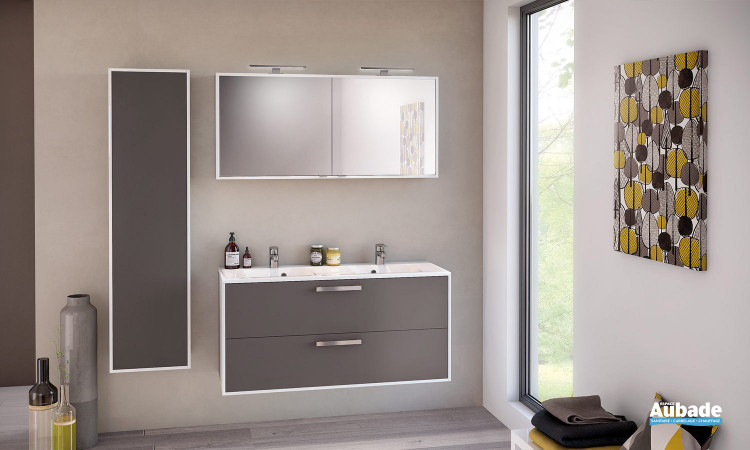 Meuble de salle de bain Ultra Cadra 120 cm Moka mat Delpha