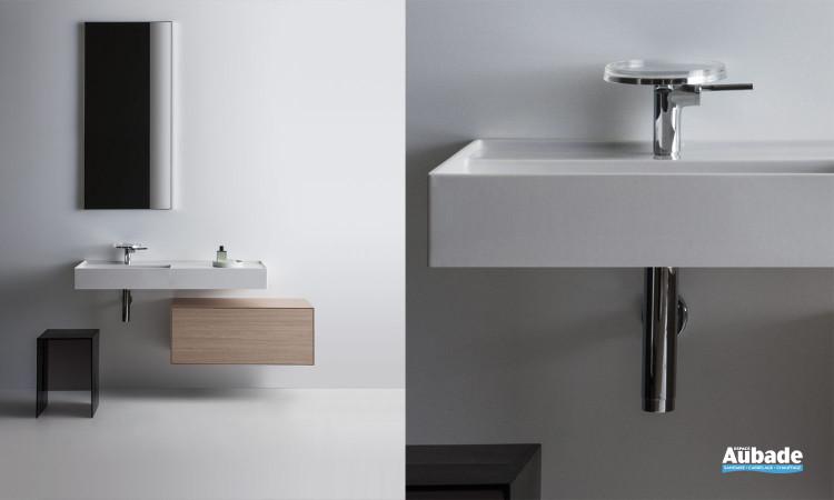 Meuble sous lavabo Laufen Boutique coloris chêne clair