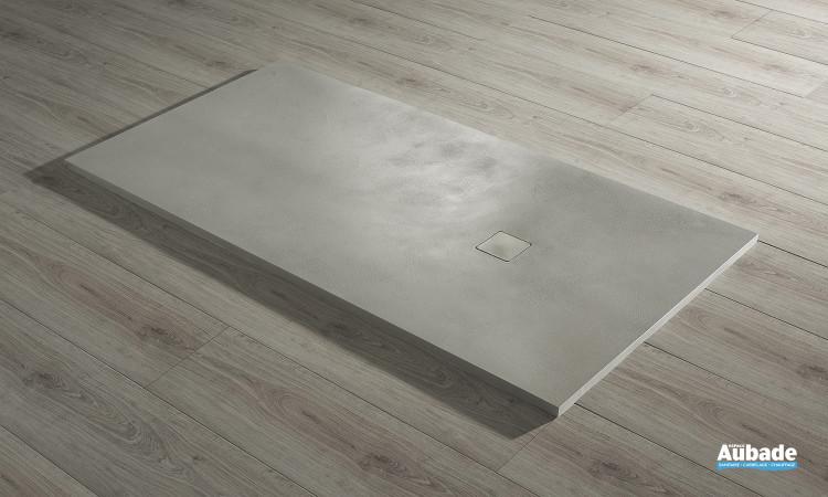 Receveur Acquabella Base Béton extraplat rectangulaire couleur grey