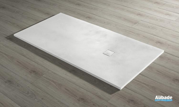 Receveur Acquabella Base Béton extraplat rectangulaire couleur  blanco