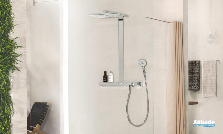 Douche ouverte avec Showerpipe Rainmaker Select 460 2jet de hansgrohe