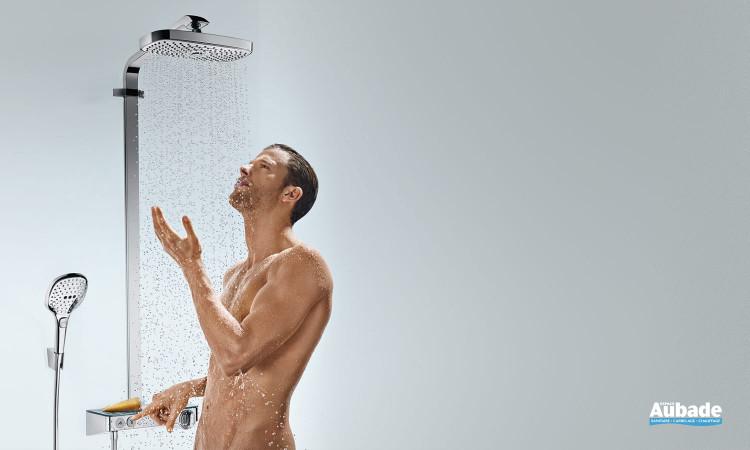 Robinetterie colonne de douche Showerpipe Raindance Select E 300 2jet de Hansgrohe
