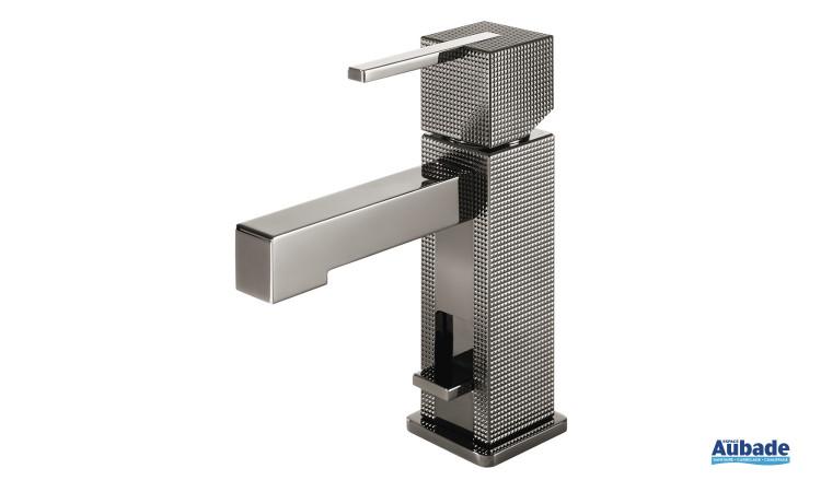 Mitigeur lavabo monotrou chromé noir