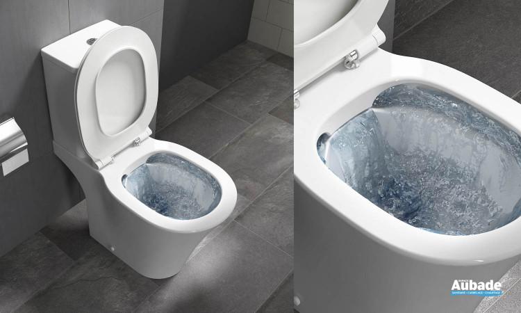 Pack WC sans bride sur pied Amazi en porcelaine vitrifiée de la marque Ideal Standard