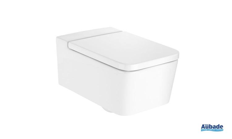 Cuvette de WC suspendue Inspira Clean-Rim, sans bride Square de Roca