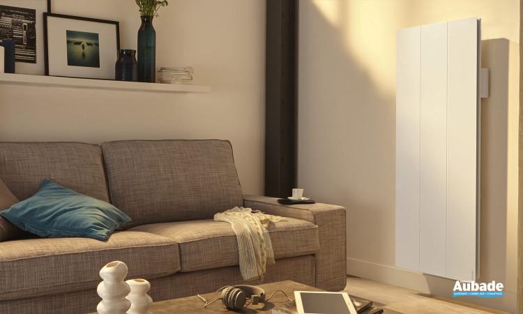 Radiateur vertical blanc électrique Calissia Connecté