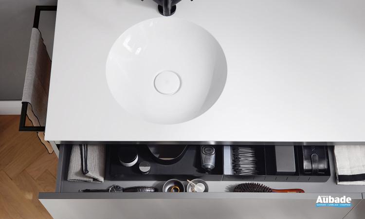 Tiroir pratique meuble salle de bain Coco Burgbad