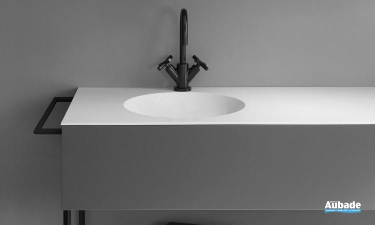 Meuble salle de bain design gris Coco Burgbad