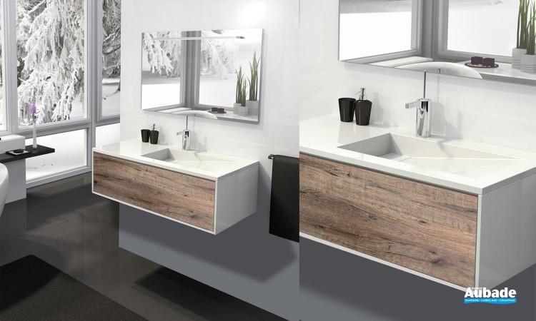 Meuble salle de bains design epure lido espace aubade - Meuble de salle de bain lido ...