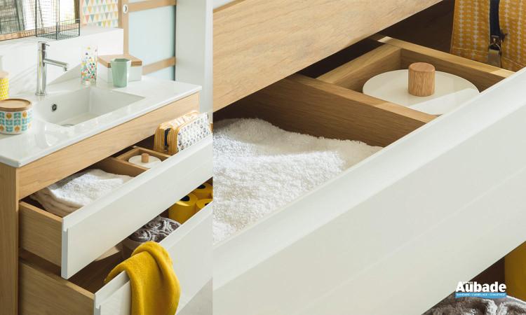 Streamline Chêne de Line Art, vue sur les tiroirs