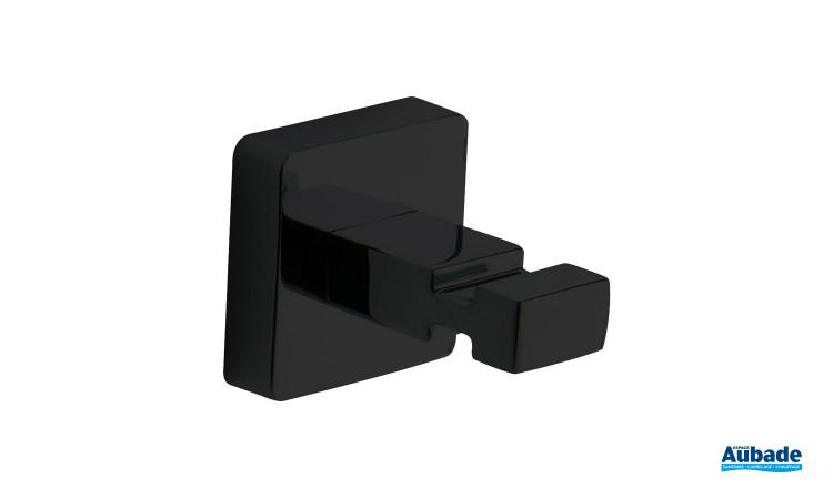 Patère design noir mat, fixable au mur ou au porte de la collection Cubo de Inda