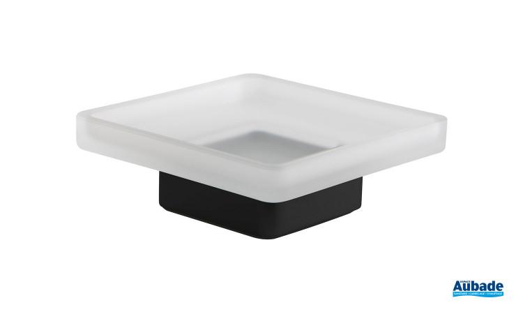 Porte savon à poser noir mat Cubo de la marque Inda