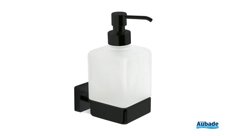 Distributeur de savon liquide noir mat à fixer Cubo de la marque Inda