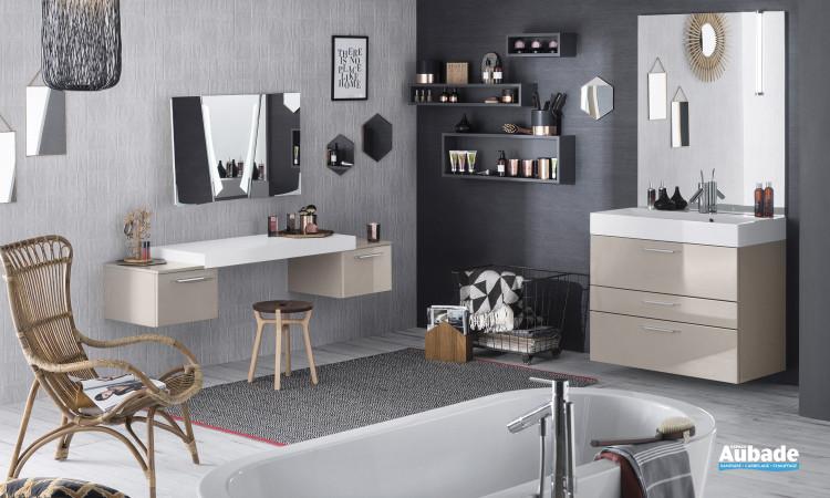Meuble de salle de bains Unqiue laque Glossy de Delpha