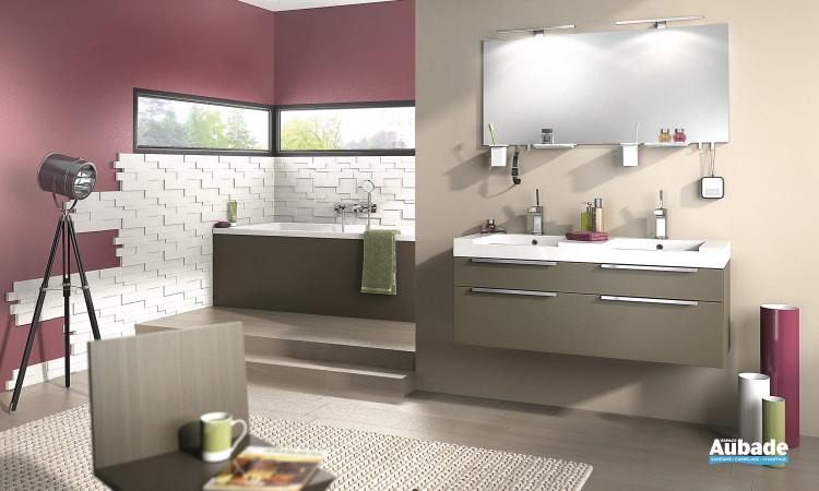 Meuble de salle de bains Inspiration 120 moka de Delpha