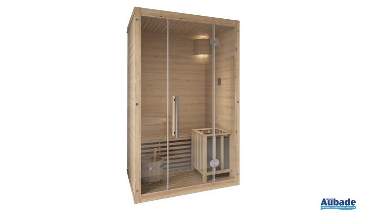 Sauna Québec, 1 banc avec dossier