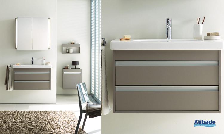 Ensemble meuble lavabo et armoire D-code Ketho de Duravit