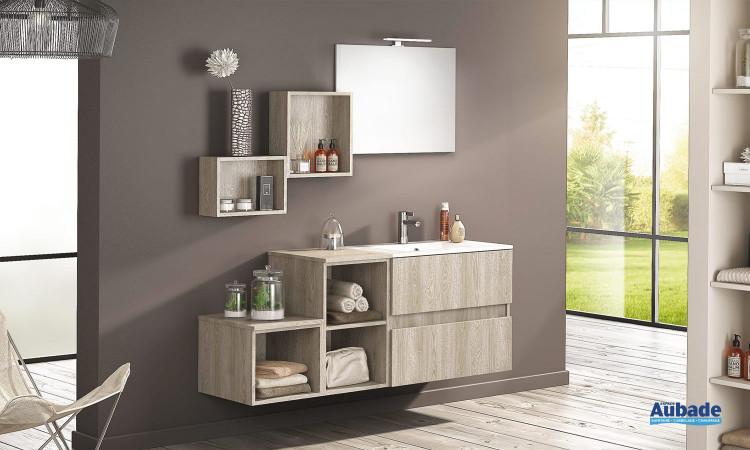 Meuble de salle de bains D Motion L 160 cm avec miroir